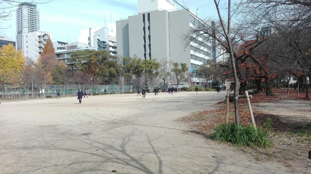靭公園テニスコートと広場